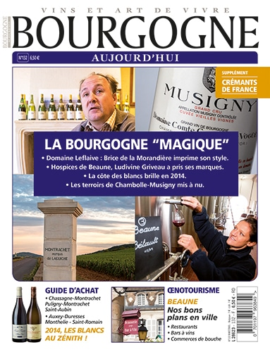 Couverture Bourgogne Aujourd'hui numéro 132